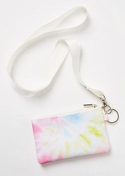 Pastel Tie Dye Lanyard