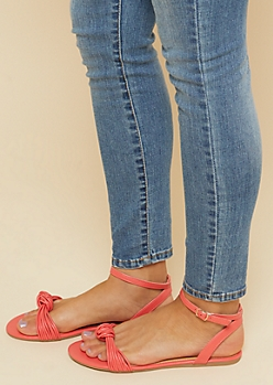 Coral Knot Front Strappy Sandals