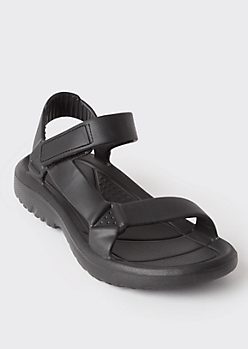 Black Waterproof Sport Sandals