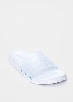 White Jelly Slide Sandals