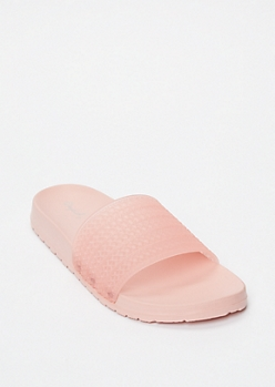 Pink Jelly Slide Sandals