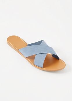 Blue Crisscross Slides