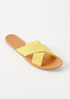 Yellow Crisscross Slides