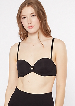 Black Convertible Push Up Bra