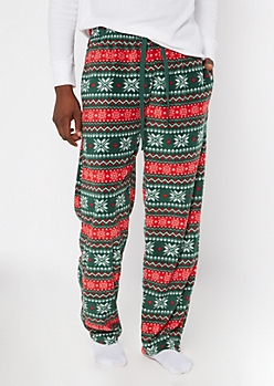 Christmas Fair Isle Plush Sleep Pants
