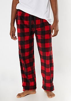Red Buffalo Plaid Plush Sleep Pants