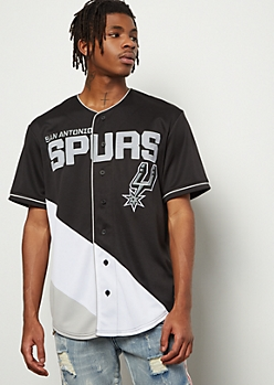 NBA San Antonio Spurs Black Zigzag Graphic Jersey