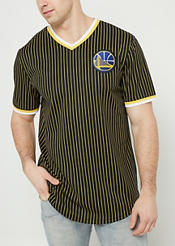 Golden State Warriors Pinstripe Mesh Tee