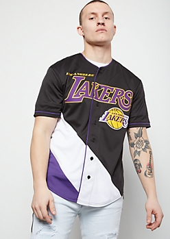 NBA Los Angeles Lakers Black Zigzag Graphic Jersey