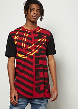 NBA Cleveland Cavaliers Black Angle Striped Tee