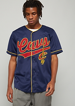 NBA Cleveland Cavaliers Navy Mesh Baseball Jersey