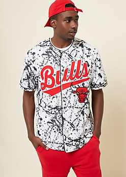 White Chicago Bulls Paint Splattered Jersey