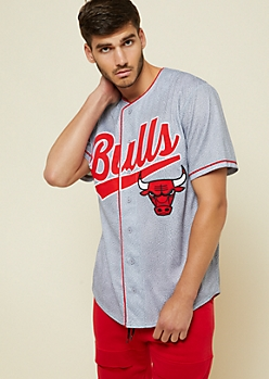 NBA Chicago Bulls Gray Marble Print Jersey