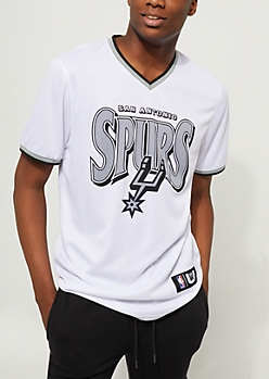 San Antonio Spurs Mesh V-Neck Tee