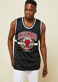 NBA Chicago Bulls Black Ivy League Jersey Tank Top