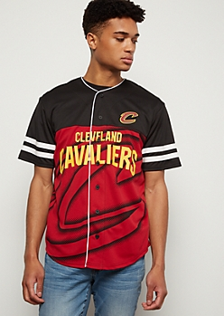 NBA Cleveland Cavaliers Black Dotted Graphic Jersey