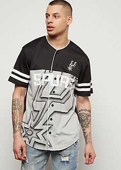 NBA San Antonio Spurs Black Dotted Graphic Jersey