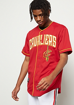 NBA Cleveland Cavaliers Red Embroidered Graphic Jersey