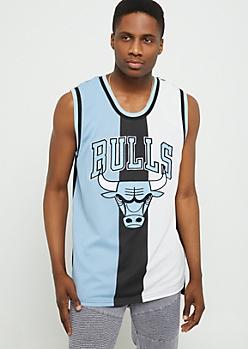Blue Chicago Bulls Tricolor Mesh Tank Top