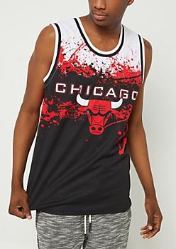 Chicago Bulls Splattered Mesh Tank Top