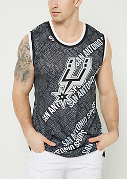 San Antonio Spurs Printed Mesh Tank Top