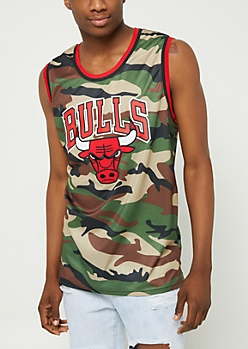Camo Print Chicago Bulls Mesh Tank Top