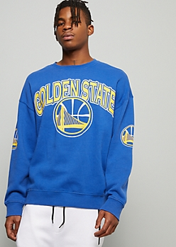 NBA Golden State Warriors Blue Crew Neck Sweatshirt