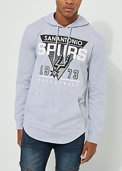 San Antonio Spurs Drop Tail Fleece Hoodie