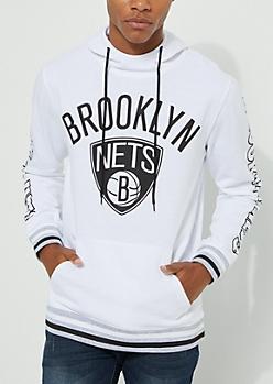Brooklyn Nets White Fleece Hoodie