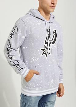 San Antonio Spurs Paint Splattered Hoodie