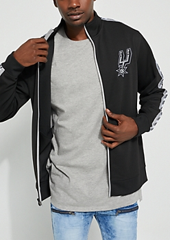 San Antonio Spurs Black Track Jacket