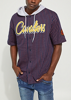 Cleveland Cavaliers Hooded Baseball Jersey