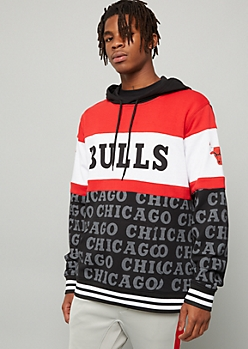 NBA Chicago Bulls Red Colorblock Graphic Hoodie