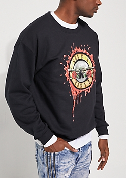 Black Guns N Roses Logo Sweatshirt