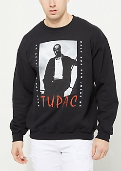 Black Tupac Crewneck Sweatshirt