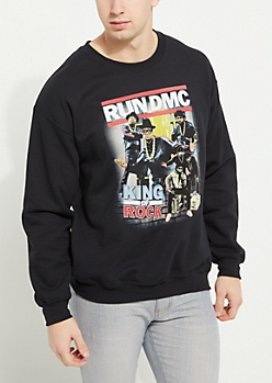 Black Run DMC Crewneck Sweatshirt