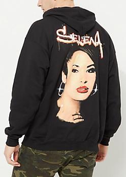 Black Selena Graffiti Hoodie