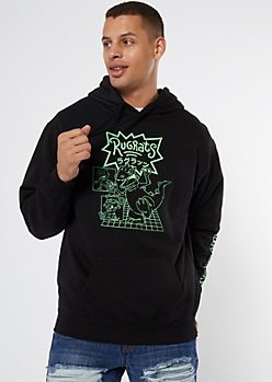 Black Silhouette Rugrats Graphic Hoodie