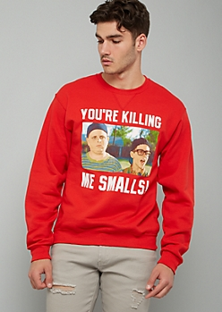 Red Killing Me Smalls Crew Neck Graphic Sweatshirt