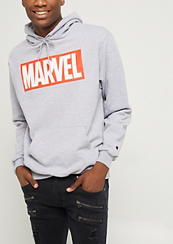 Gray Marvel Hoodie