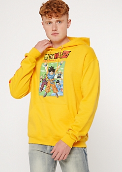 Yellow Dragonball Z Kanji Graphic Hoodie