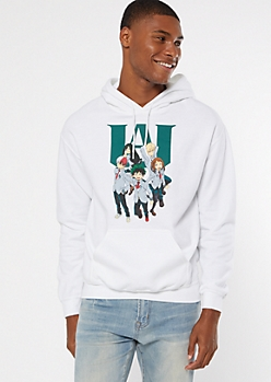 White My Hero Academia Graphic Hoodie
