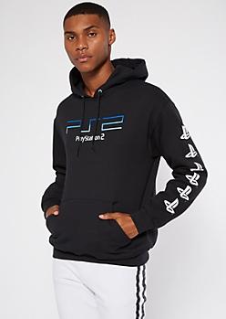 Black PlayStation 2 Graphic Hoodie