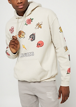 Sand Legend Patch Pullover Hoodie