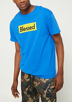 Blue Blessed Box Tee