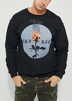 Savage Burning Rose Sweatshirt