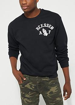 Blessed AF Black Sweatshirt