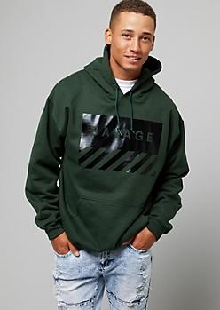 Dark Green Savage Pullover Fleece Hoodie
