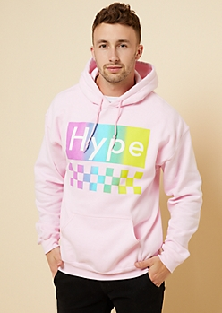 Pink Rainbow Checkered Hype Hoodie