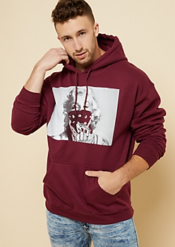 Burgundy Diamond Marilyn Monroe Hoodie